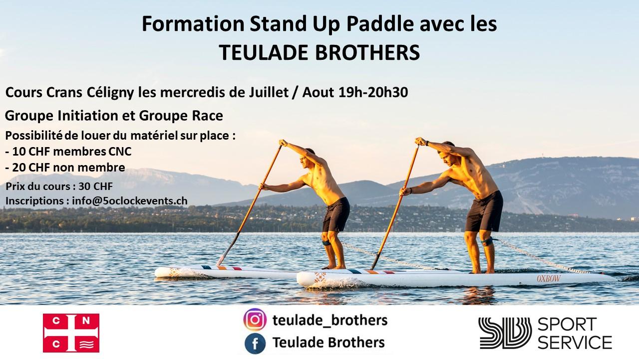Cours avancé de paddle avec les frère Teulade