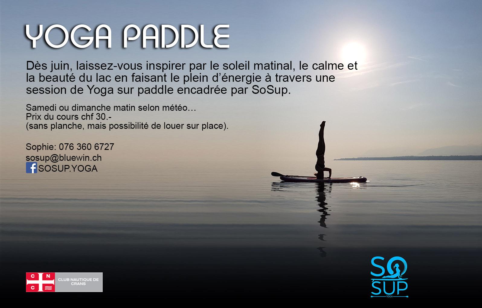 Cours de Yoga - Paddle