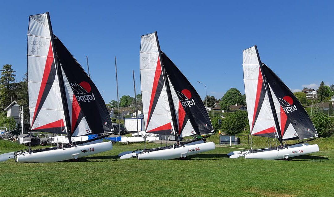 Nouveaux bateaux pour l'école de voile